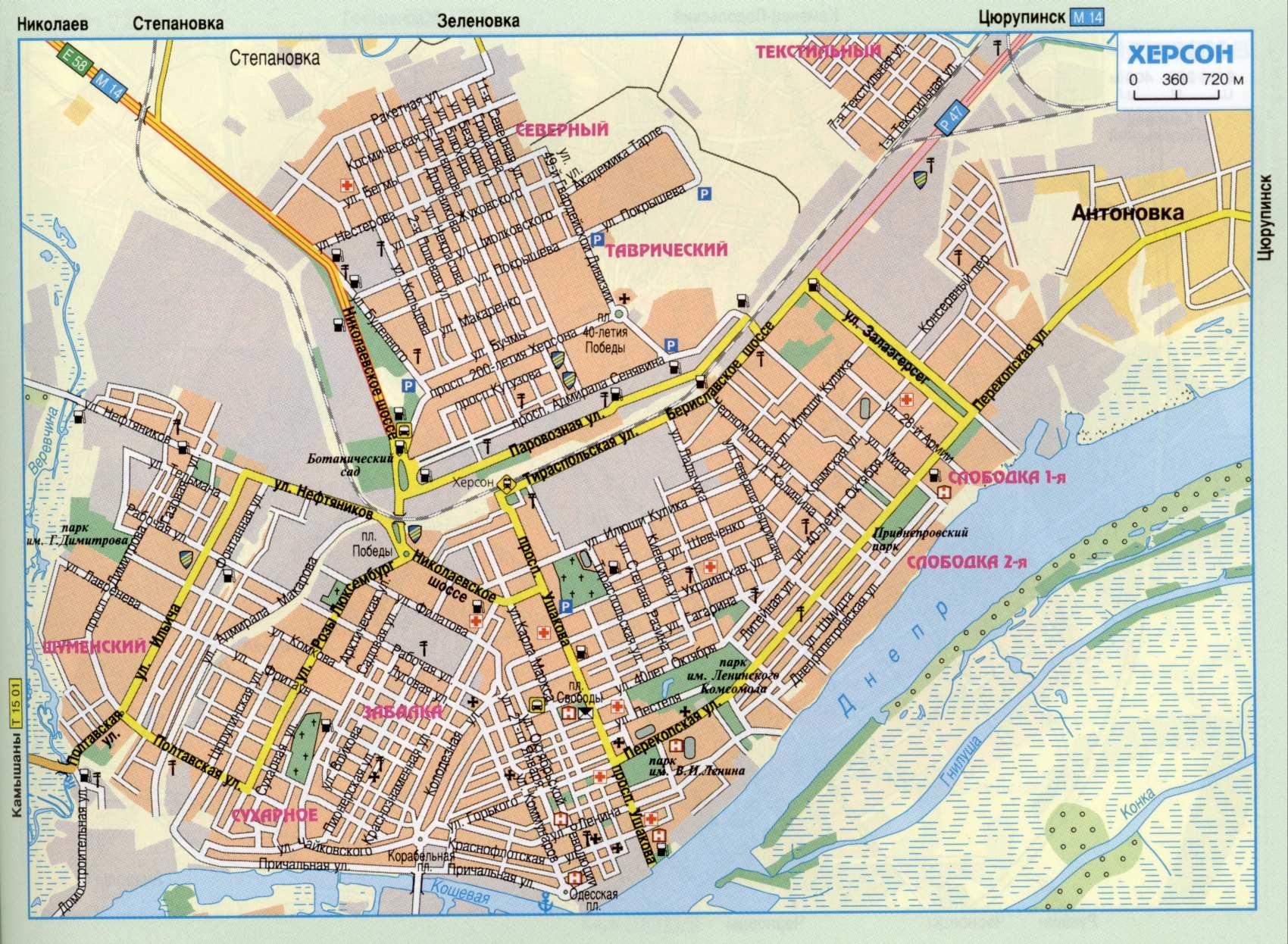 карта Херсона, диваны в Херсоне