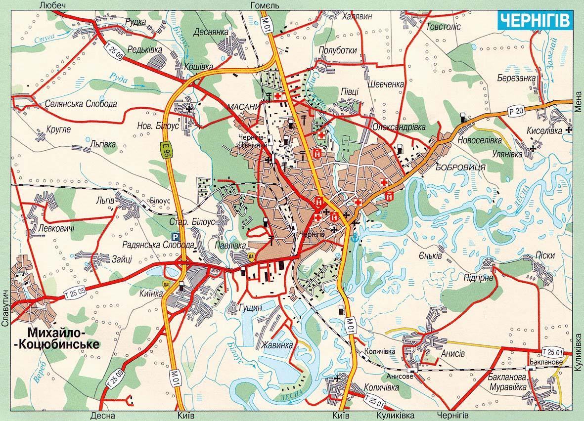 карта Чернигова, диваны в Чернигове
