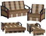 диван Американка Дакота Рома 14-2, 120см. c деревянными подлокотниками