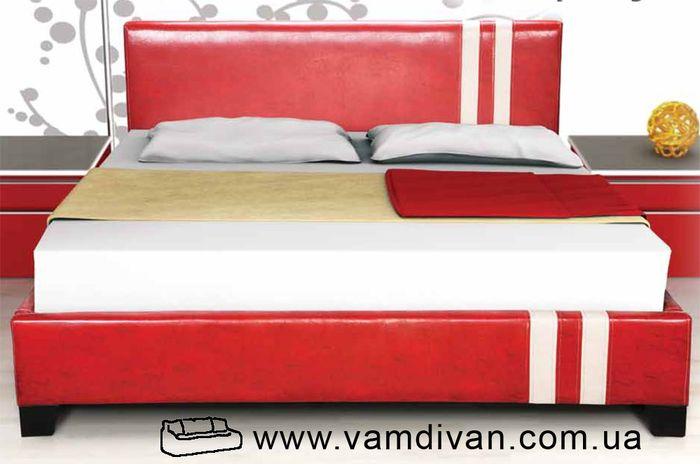 Кровать Формула, красный кожезаменитель