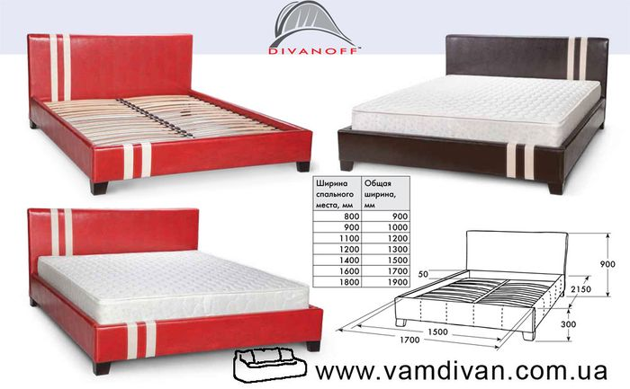 Кровать формула, варианты кожзама
