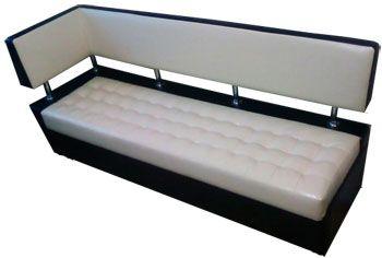 Угловой кухонный диван обит искуственной кожей