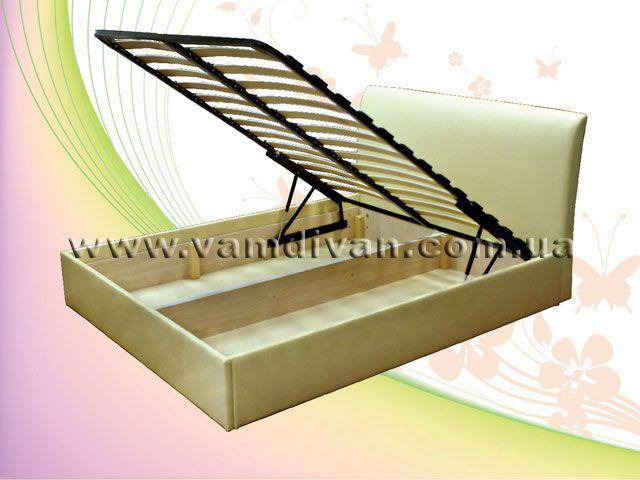 Кровати двуспальные с подъемным механизмом и ящиком