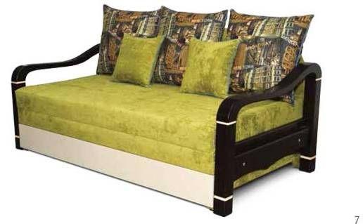 Диван Парма, зеленые подушки