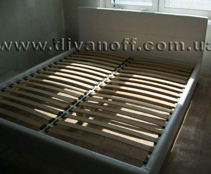 Кровать Сиеста, под заказ, белый кожзам