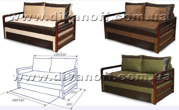 размер дивана Валенсия 180